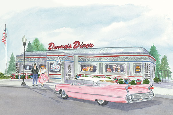 Donna S Diner Painting