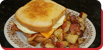 Breakfast Sandwich at Donna's Diner